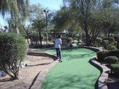 A miniature golf course in Norwalk, Connecticut.