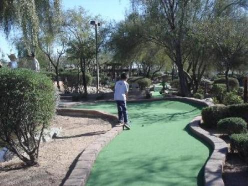 A miniature golf course in Norwalk, Connecticut.