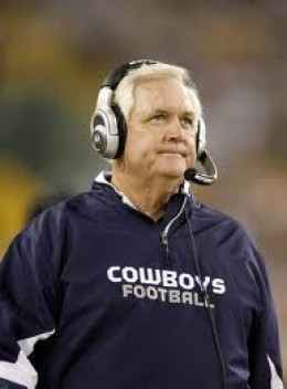 Ex-Head Coach of the Dallas Cowboys Wade Phillips on the sideline during a game.