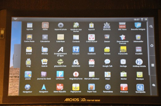 Archos 101 apps