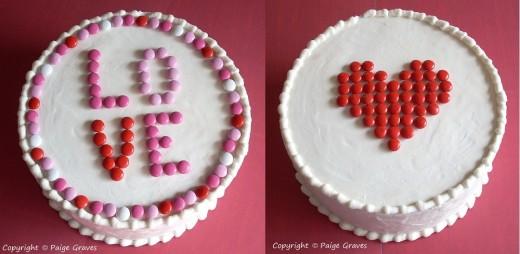 Valentine M&Ms make Fun Decorations