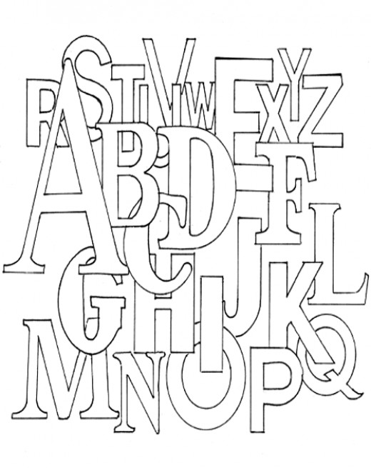 Free block letter u coloring pages for Alphabet blocks coloring pages