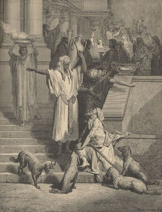 Lazarus at the Rich Man's Gate, by Gustave Dor