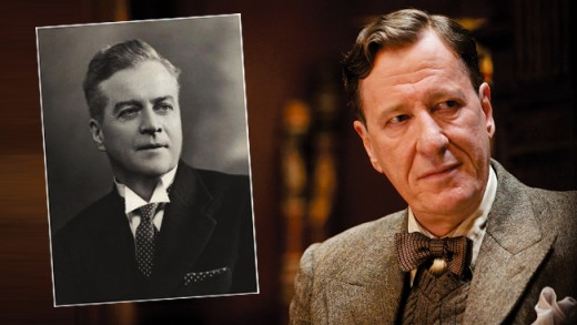 Lionel Logue and Geoffrey Rush who portrays him in the film