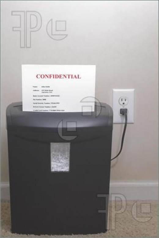 Protecting your identity is important - shred all confidential information about your personal finances and banking.