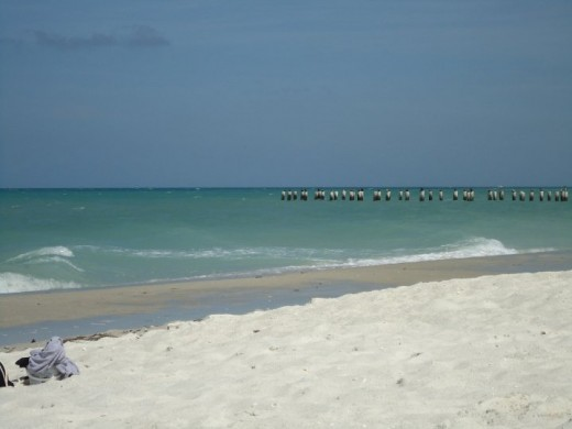 Warm gulf waters flanked by warm, white sugar sand.
