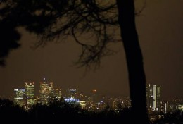 Parliament Hill vista at night