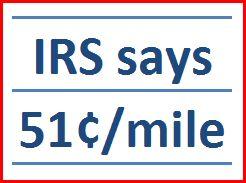 Official IRS reimbursement rate $0.56 beginning January 2014