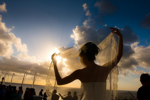 Wedding on a budget - A bride from Bali Beach - Wedding alongside the beach is a nice idea for budget wedding with a unique style.