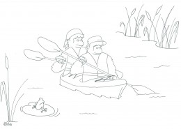 It is great fun kayaking down the river seeing what lives there .