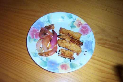 Barbequed Tofu Strips