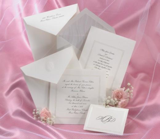 Wedding Invitation Ettiquette: Budget For Wedding -plus Ideas