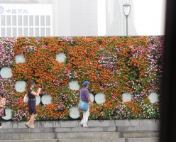Garden wall at Bund Walk