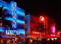 Popular South Beach strip