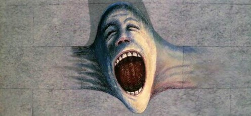 The signature Pink Floyd 'Wall Scream'.