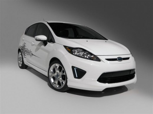 The new Ford Fiesta looks very similar to the Focus.