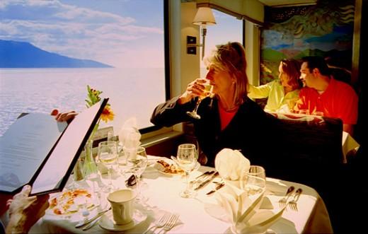 Alaskan Railroad Goldstar dining