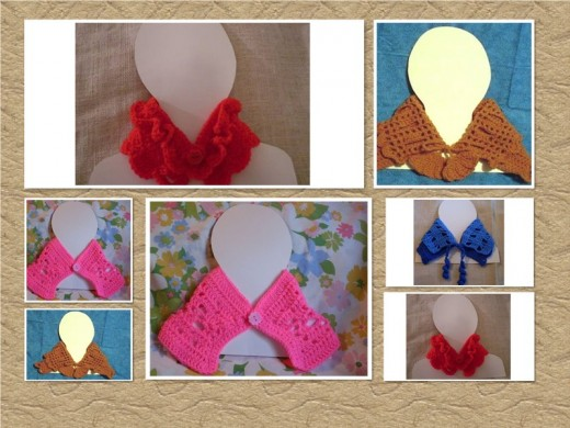 Crochet warming collars