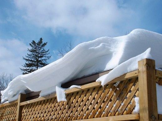 A beautiful snowdrift
