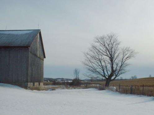 A brooding winter scene