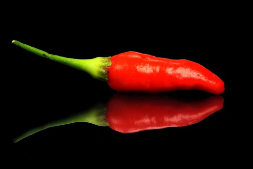 The enticing color of a hot chile pepper...