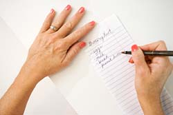 Make a grocery list before heading to the store.
