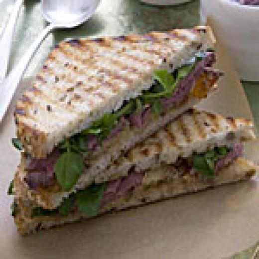 Beef Panini sandwich