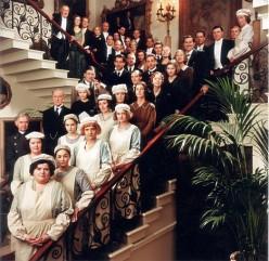 The servants stood gawking...