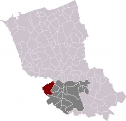 Map location of Renescure in France's Nord Department