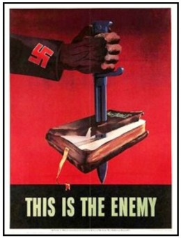 A WW2 poster opposing NAZI persecution of Christians