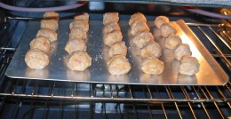 Bake Sausage Balls at 350 degrees for 20 to 25 minutes. Bake until they are golden brown.