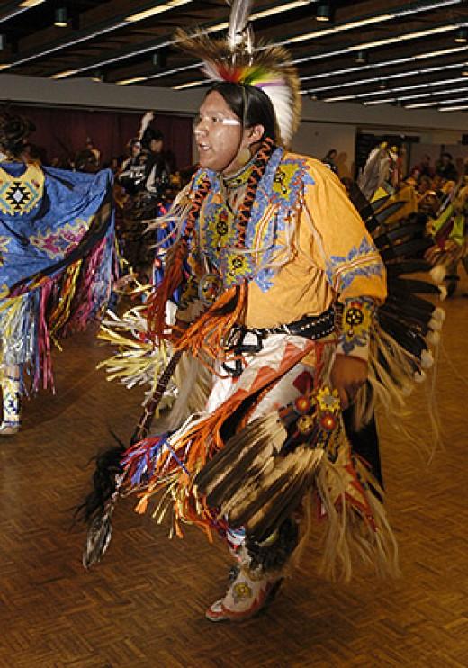 Indian dancer at an Indian Powwow