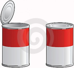 Empty metal soup can