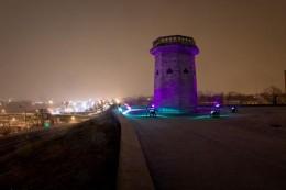 Druid Hill Tower in Purple