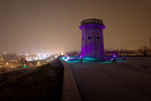 Druid Hill Tower in Purple
