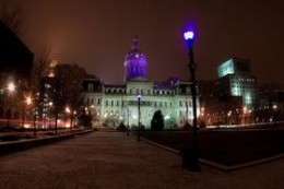 City Hall Dome in Purple
