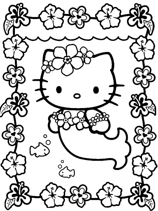 cute hello kitty colouring pages. Source: hello kitty coloring