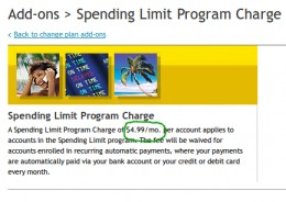 Spending Limit Program Charge