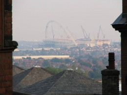 View of Wembley Park from Harrow On The Hill