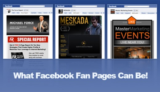 fan pages samples