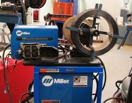 A wire feeder for Flux Cored Arc Welding
