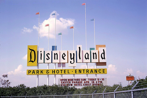 The Disneyland sign in 1965