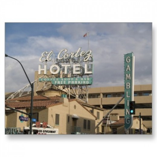 My father enjoyed visiting this historic Las Vegas hotel, pictured as it was in 1965
