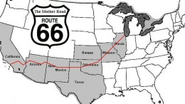 We chose Route 66 to reach our holiday destinations
