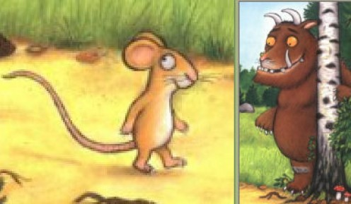 Images from Front Cover of 'The Gruffalo'