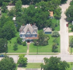 Original funding for the building's construction was obtained from a winning lottery ticket.  House is in Texas.