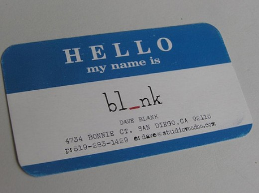 Business Card for Event Coordinators (especially those who handle blind/speed dates)