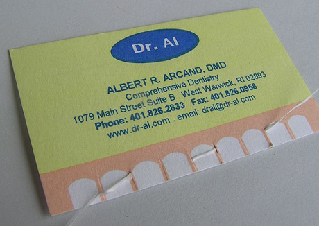 Business Card for Dentists (especially those who recommend flossing a lot)