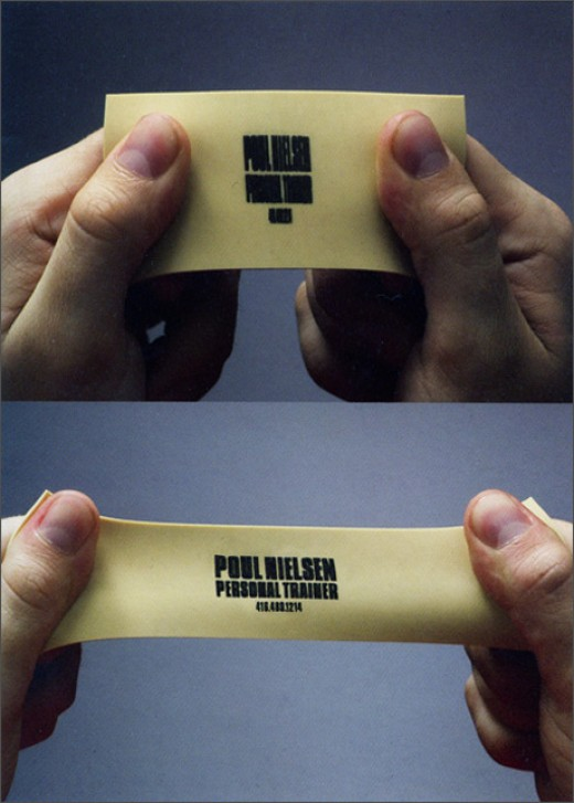 Rubber Business Card Design