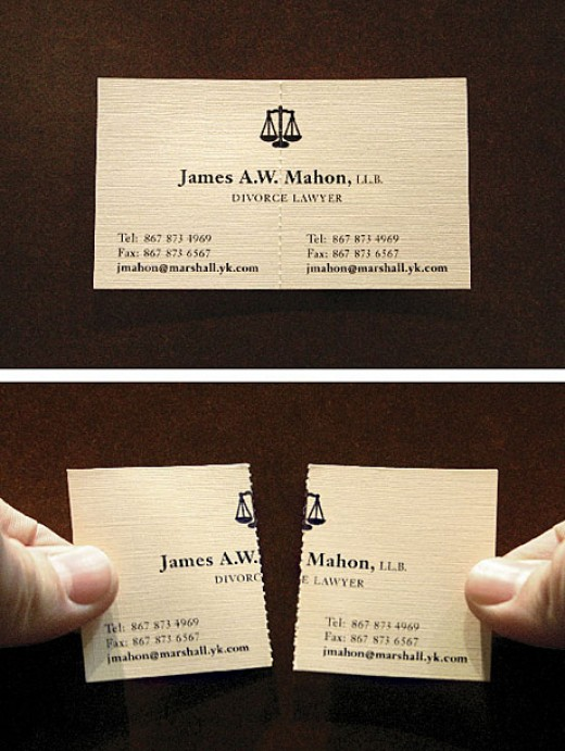 Business Card for Divorce Lawyers